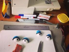 de werkplaats van PuppetX poppenvoorstelling improvisatie